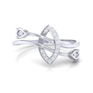 18Kt white gold real diamond ring 44(2) by diamtrendz