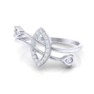 18Kt white gold real diamond ring 44(3) by diamtrendz