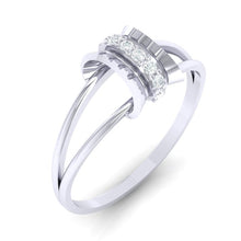 Load image into Gallery viewer, 18Kt white gold real diamond ring 45(1) by diamtrendz