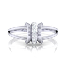 Load image into Gallery viewer, 18Kt white gold real diamond ring 45(2) by diamtrendz