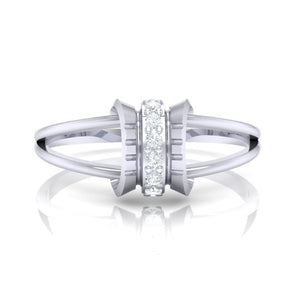 18Kt white gold real diamond ring 45(2) by diamtrendz