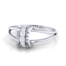 Load image into Gallery viewer, 18Kt white gold real diamond ring 45(3) by diamtrendz