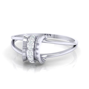 18Kt white gold real diamond ring 45(3) by diamtrendz