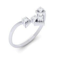 Load image into Gallery viewer, 18Kt white gold real diamond ring 47(1) by diamtrendz