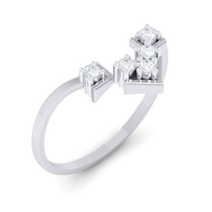 18Kt white gold real diamond ring 47(1) by diamtrendz