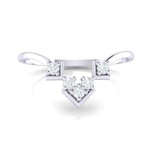 Load image into Gallery viewer, 18Kt white gold real diamond ring 47(2) by diamtrendz