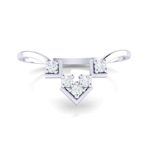 18Kt white gold real diamond ring 47(2) by diamtrendz