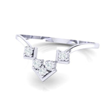 Load image into Gallery viewer, 18Kt white gold real diamond ring 47(3) by diamtrendz
