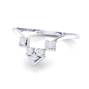 18Kt white gold real diamond ring 47(3) by diamtrendz