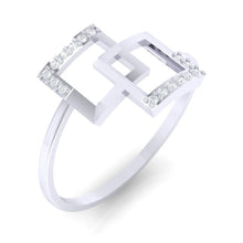 Load image into Gallery viewer, 18Kt white gold real diamond ring 48(1) by diamtrendz
