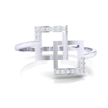 Load image into Gallery viewer, 18Kt white gold real diamond ring 48(2) by diamtrendz