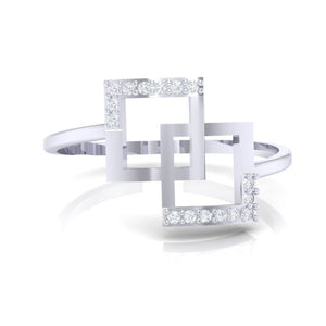 18Kt white gold real diamond ring 48(2) by diamtrendz