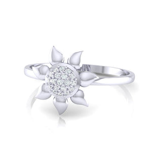 18Kt white gold real diamond ring 50(3) by diamtrendz