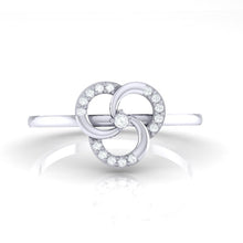 Load image into Gallery viewer, 18Kt white gold real diamond ring 51(2) by diamtrendz