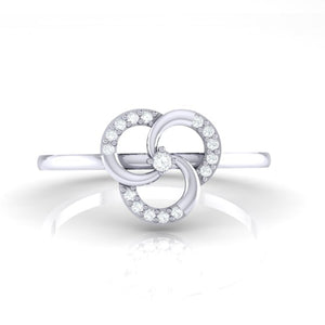 18Kt white gold real diamond ring 51(2) by diamtrendz