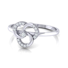 Load image into Gallery viewer, 18Kt white gold real diamond ring 51(3) by diamtrendz