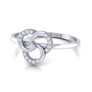 18Kt white gold real diamond ring 51(3) by diamtrendz