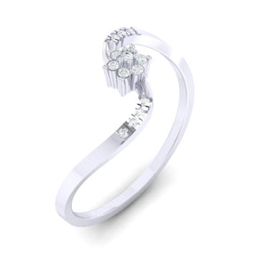 18Kt white gold real diamond ring 53(1) by diamtrendz
