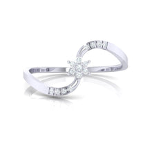 Load image into Gallery viewer, 18Kt white gold real diamond ring 53(2) by diamtrendz