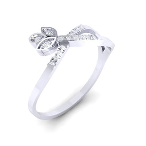 18Kt white gold real diamond ring 54(1) by diamtrendz