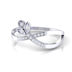 18Kt white gold real diamond ring 54(3) by diamtrendz