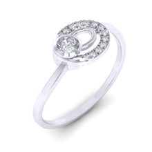 Load image into Gallery viewer, 18Kt white gold real diamond ring 55(1) by diamtrendz