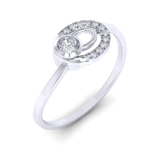 18Kt white gold real diamond ring 55(1) by diamtrendz