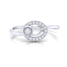 Load image into Gallery viewer, 18Kt white gold real diamond ring 55(2) by diamtrendz