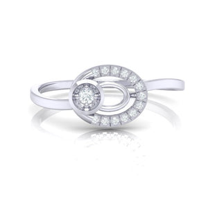 18Kt white gold real diamond ring 55(2) by diamtrendz