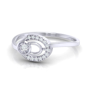 18Kt white gold real diamond ring 55(3) by diamtrendz