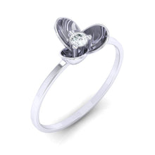 Load image into Gallery viewer, 18Kt white gold real diamond ring 56(1) by diamtrendz