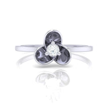 Load image into Gallery viewer, 18Kt white gold real diamond ring 56(2) by diamtrendz