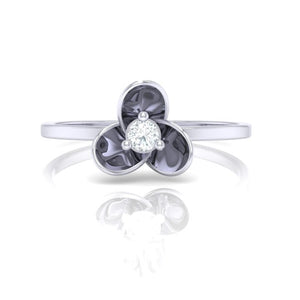 18Kt white gold real diamond ring 56(2) by diamtrendz