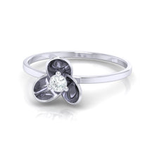 Load image into Gallery viewer, 18Kt white gold real diamond ring 56(3) by diamtrendz