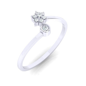 18Kt white gold real diamond ring 57(1) by diamtrendz