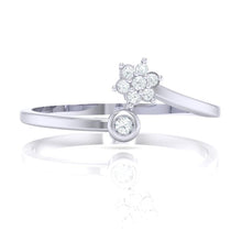 Load image into Gallery viewer, 18Kt white gold real diamond ring 57(2) by diamtrendz