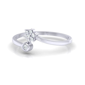 18Kt white gold real diamond ring 57(3) by diamtrendz