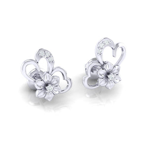 18Kt Gold Diamond Earring - Heart