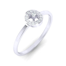 Load image into Gallery viewer, 18Kt white gold solitaire diamond ring by diamtrendz