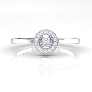 18Kt white gold solitaire diamond ring by diamtrendz