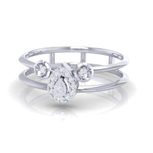 Load image into Gallery viewer, 18Kt white gold pear diamond ring by diamtrendz