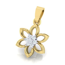 Load image into Gallery viewer, 18Kt Gold Diamond Pendant - Floral