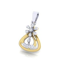 Load image into Gallery viewer, 18Kt gold real diamond pendant by diamtrendz