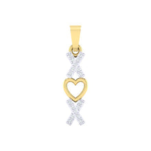 Load image into Gallery viewer, 18Kt gold real diamond heart shape pendant by diamtrendz