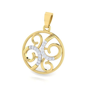 18Kt Gold Diamond Pendant