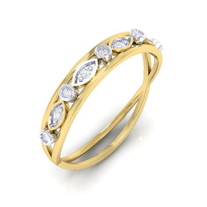 18Kt gold band diamond ring by diamtrendz