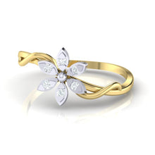 Load image into Gallery viewer, 18Kt gold floral diamond ring by diamtrendz