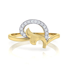 Load image into Gallery viewer, 18Kt gold real diamond ring by diamtrendz