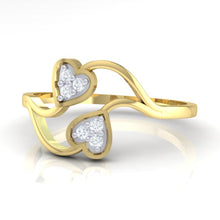 Load image into Gallery viewer, 18Kt gold heart diamond ring by diamtrendz