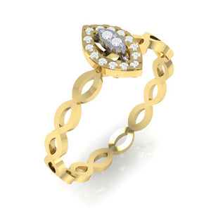18Kt gold marquise diamond ring by diamtrendz